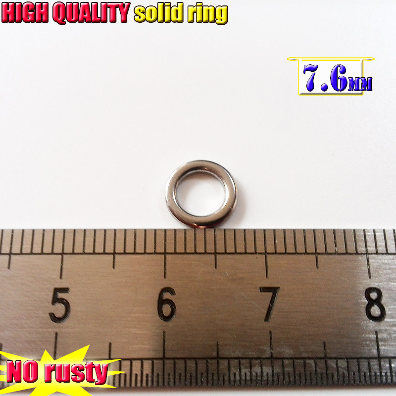 2018 fishing solid ring not rusty high density stainless steel size choose 30pcs/lot+10pcs=40pcs/lot