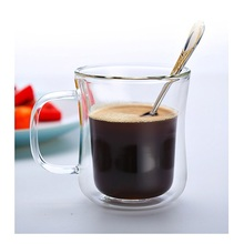 Double Wall Glass Cup Tea Coffee Cup Set