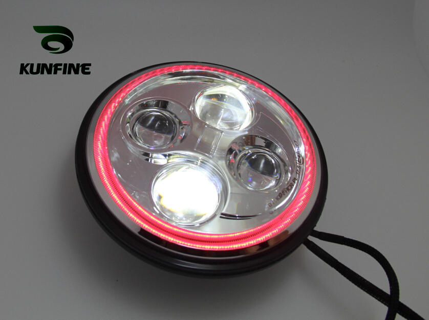 7'' Round 40W LED Work Lamp LED Headlights Conversion Kit With Hi/Lo Beam Fog Light Lamp 4x4 Truck SUV