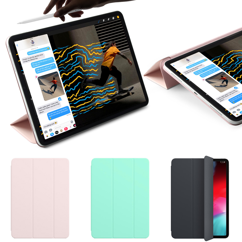 Magnetic Smart Folio for 11 inch <font><b>iPad</b></font> Pro 2018, Trifold Stand Magnet <font><b>Case</b></font> Cover for <font><b>iPad</b></font> Pro11 Funda Support Attach Charge image