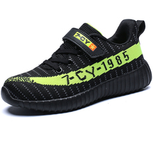 Boys Running Shoes Thick Sole Brand Soft Speed Kids Sneakers Black Outdoor Children Sport Footwear Child Walking