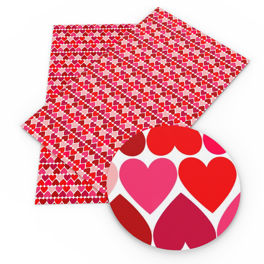 David accessories 20*34 см Happy новый год Сердце цветок животных искусственная синтетическая кожа, DIY декоративная одежда Knotbow сумка, 1Yc5077