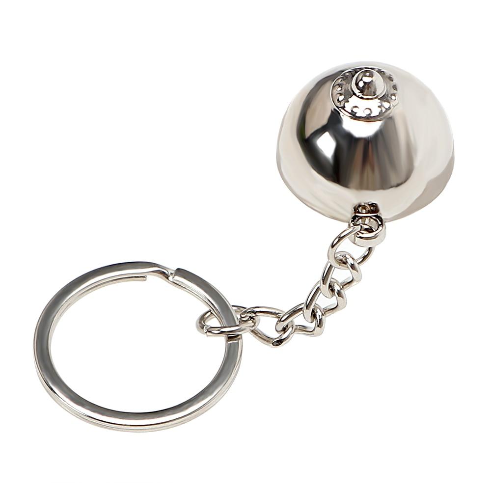 Auto Accessory Staingless Steel Key Ring Chain Holder Fob KeyFob Car Decorative