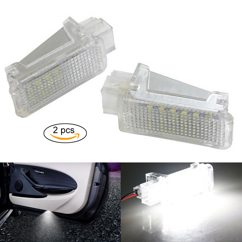 New 2 Pcs Car LED Courtesy Door Projector Lights for Audi/VW/Skoda Ghost Shadow Light Lamp DXY88