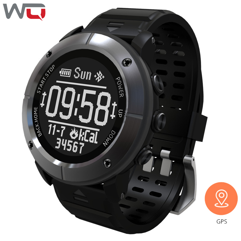 WQ UW80C Smart Watch SOS GPS Outdoors Golf Sports Watch Professional Waterproof Heart Rate Monitor Bluetooth Smart Wristwatch lion style usb 2 0 flash drive disk multicolored 16gb