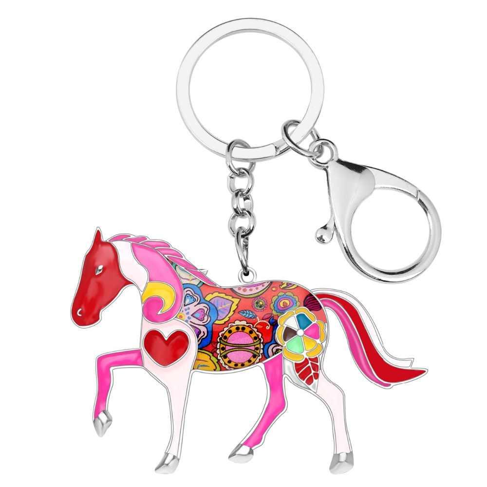 LLavero de aleación de Bonsny, llavero de caballo, llavero, bolso, llavero para hombre, llavero para coche, 2017 nuevos accesorios de joyería