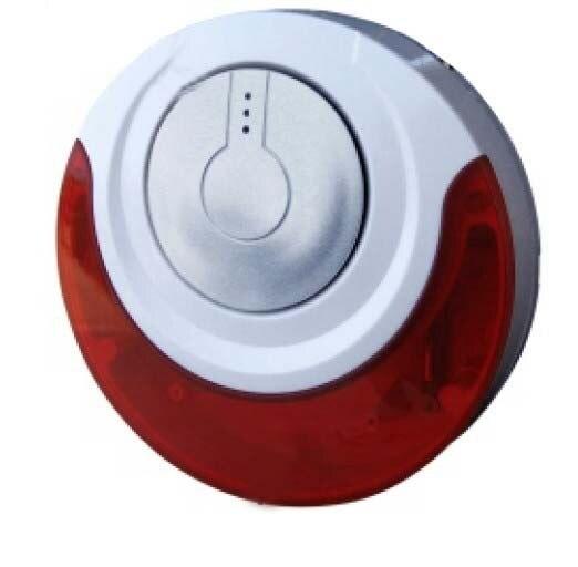 פוקוס MD 214R אלחוטי 433mhz/868mhz מקורה הפנימי מעורר Strobe פלאש סירנה 110db אדום