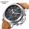 Relogio Masculino мужские часы Лидирующий бренд Роскошные военные спортивные часы мужские кожаные многофункциональные кварцевые часы с хронограф...