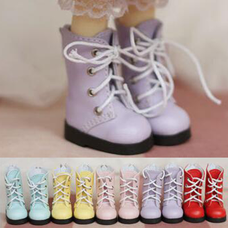 NEW 1/6 BJD YOSD Doll Shoes Pink/purple/Red/blue Martin boots Shoes