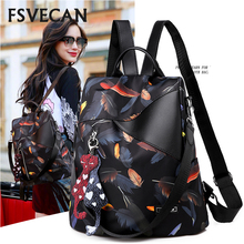 Rodful printing anti-theft backpack women 2019 Oxford Waterproof backpack female college student bag Mochils Mujer sac a dos
