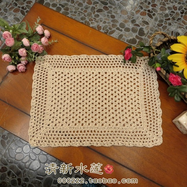 Awesome Free Shipping 33x47cm Cotton Crochet Lace Table Mat Cabinet Towel For Coffee  Table Decoration Dining Table