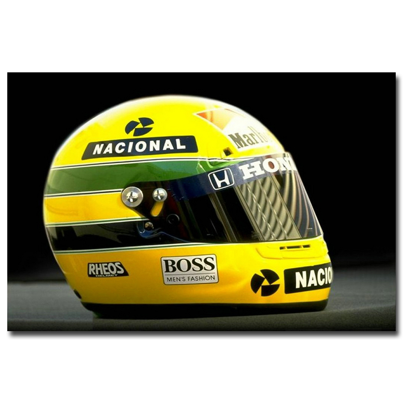 NICOLESHENTING Ayrton Senna da Silva Car Racer Art Silk Poster Print 13x20 inches Sports Pictures Living Room Decor 013