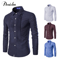 2016 new European and American fashion palace style printing spot fold long-sleeved single-breasted mens shirts