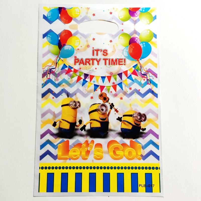 10pcs Cartoon Despicable Me Minion Gift Bags Kids Birthday