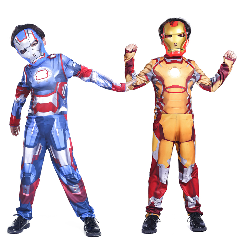 Free shipping Halloween costume cosplay boy hero Avengers Iron Man clothes performance clothing costumes