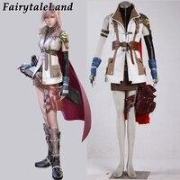 Final Fantasy XIII Lightning Eclair Farron Cosplay Costume Halloween costumes for women Final Fantasy cosplay fancy suit