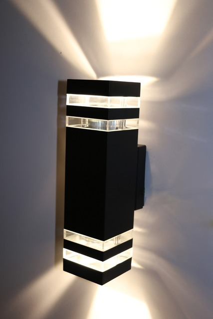 448W48W48W48W LED Exterior Wall Sconces UpDown Light Waterproof Awesome Basement Lighting Design Exterior