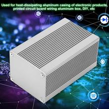 Silver Aluminum Enclosures PCB Instrument  Box Case DIY Casing Cooling Electronic Project Enclosure