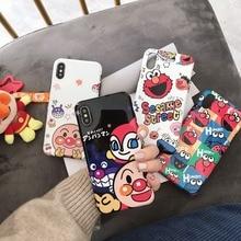 Cute Cartoon Sesame street Anpanman Soft IMD Case For iPhone XS XR MAX X 6 6S 7 8 Plus