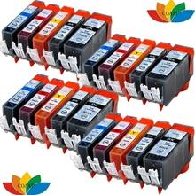 Get more info on the 20 Compatible pgi220 cli221 ink cartridge for canon MP620 MP630 MP640 MP540 MP550 MP560 MP980 MP990 IP3600 IP4600 IP4700 Printer