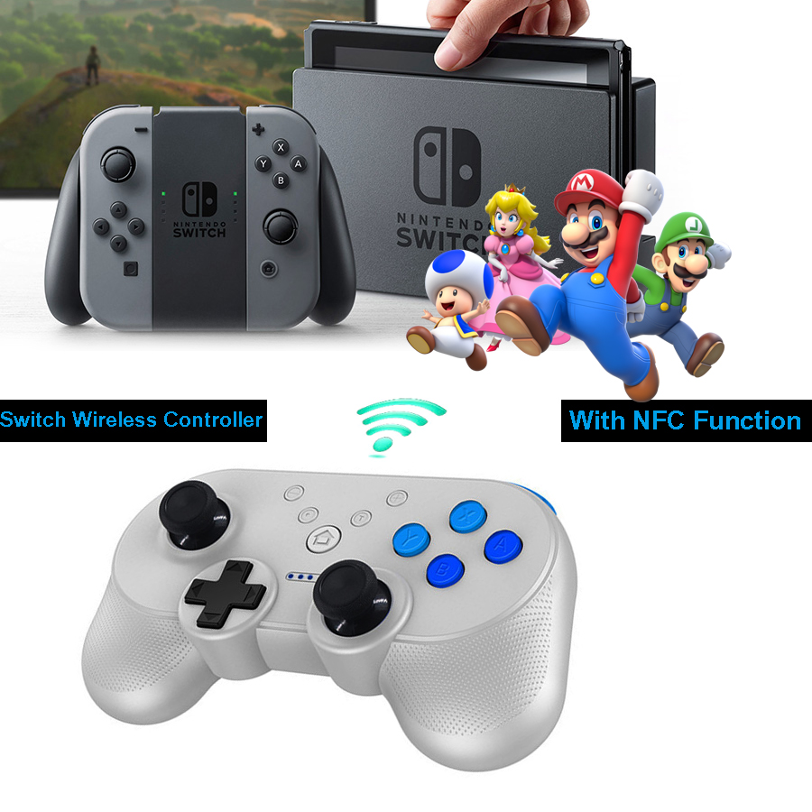 Nintend Switch Joystick NS Mini Compact Wireless Bluetooth Gamepad Controller With NFC Function for Nintend Switch NS цена