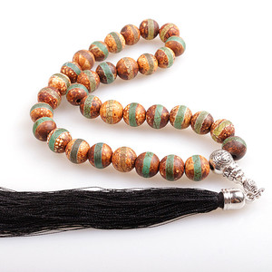 Image 4 - 10MM Natural Stone Brown Frost Handcrafted Islamic Prayer Beads (33 Beads) Muslim Tasbih Allah Mohammed Rosary for women men