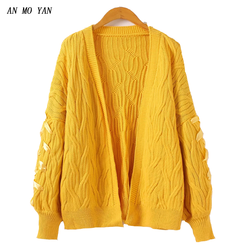 19afd7874778ba Detail Feedback Questions about Yellow Women's Knit Sweater Fashion Cross  Stripes Harajuku Style 2018 Autumn And Winter Korean Version Of Loose Sweet  ...