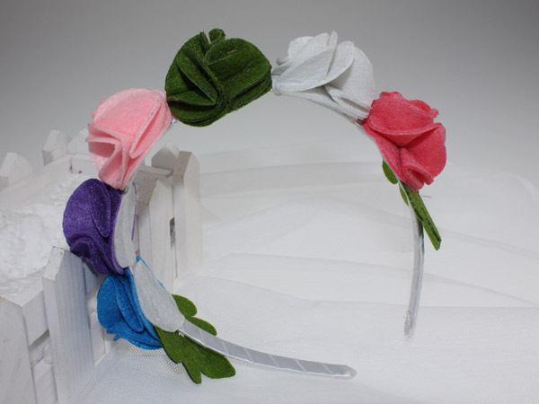 Min Order $9.9, Colorful Felt Flower Headband, Free Shipping