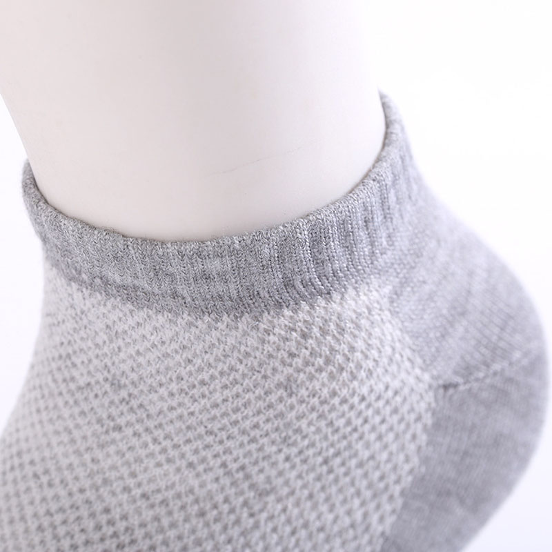 20pcs=10pair Solid Mesh Men's Socks Invisible Ankle Socks Men Summer Breathable Thin Boat Socks Size Eur 38-43 Cheap Price #3