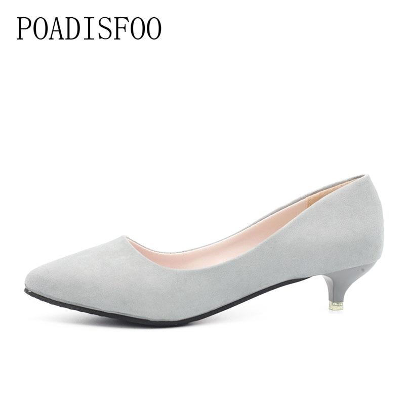 POADISFOO 2018 New Women's Fashion New Pumps OL Sandals thin heels 3cm Spring Fashion Grace pumps Sandals Shoes Lady .LSS-219 fashion new spring