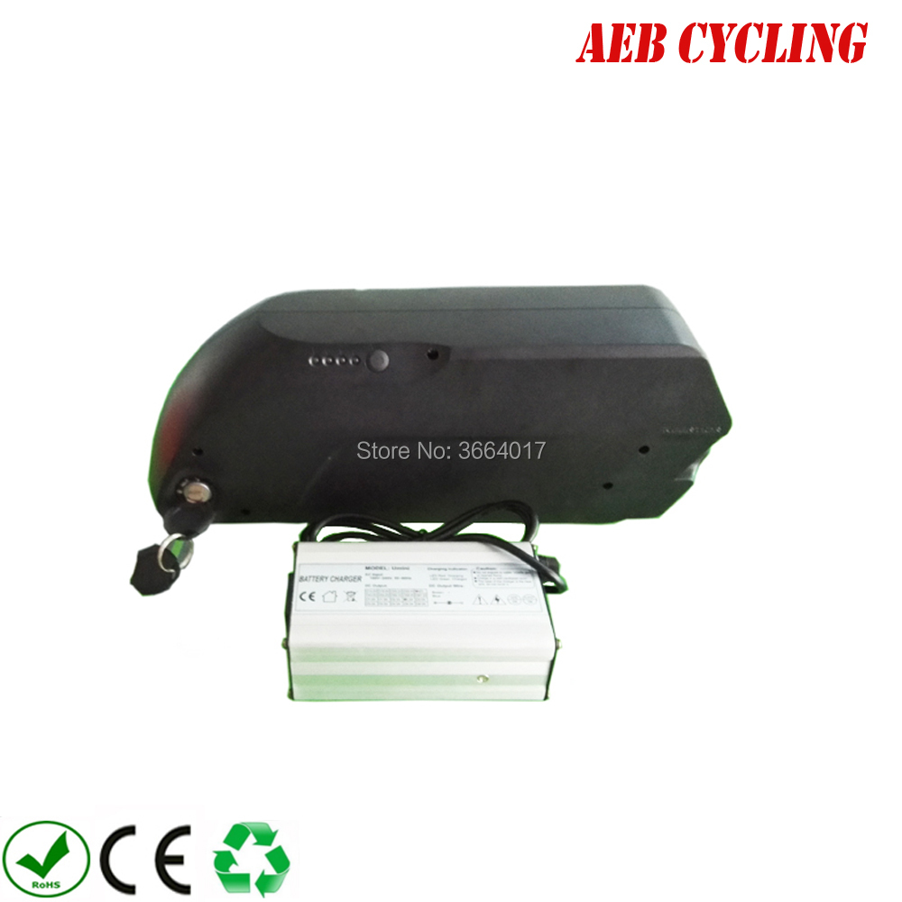 Купить с кэшбэком Free shipping and taxes to EU US Li-ion 48V 17.5Ah tiger shark down tube electric bicycle battery for fat tire bike with charger