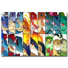 NICOLESHENTING Pokemon XY Anime Game Art Silk Poster 12x18 24x36 inches Pocket Monster Pikachu Wall Picture 059(China)