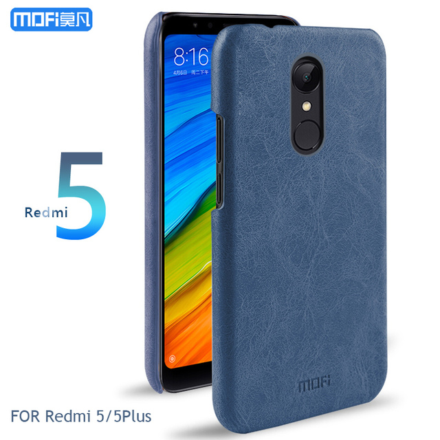 outlet store 535a8 d3749 US $9.99 |Redmi 5 Plus Case Cover MOFI for Xiaomi Redmi 5 Hard Leather Back  Cover Case For redmi 5/5plus Leather Case 5.7/5.99''-in Half-wrapped Case  ...