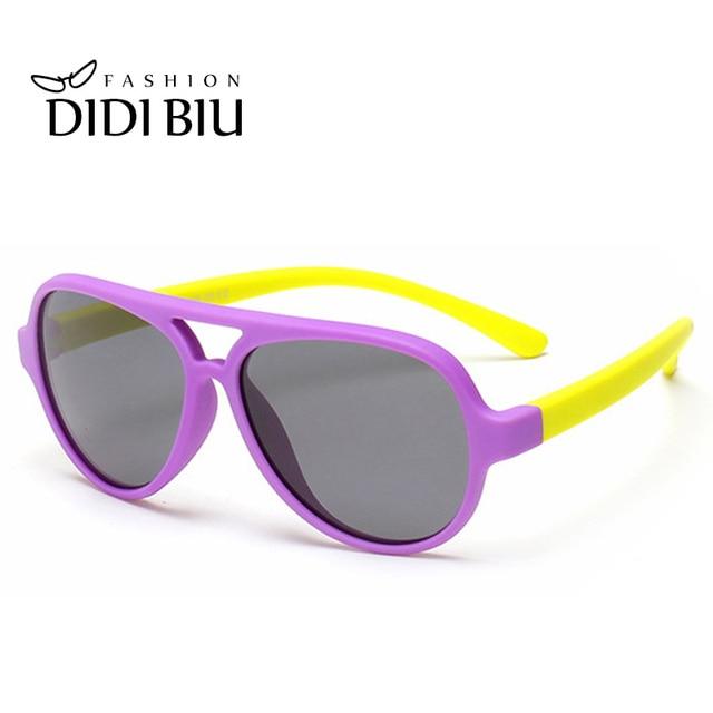 c984694cf0c53 Crianças TR90 Titanium Armação Dos Óculos Polarizados Óculos De Sol Do Bebê  Dobrável de Silicone Flexível