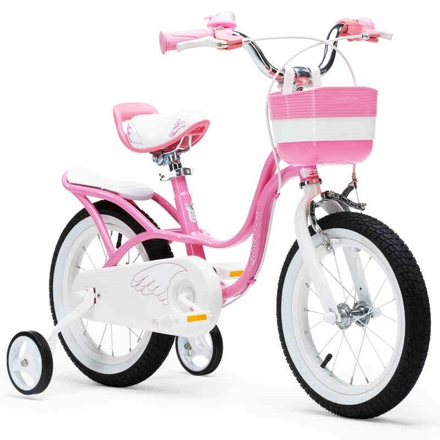 Upgraded Royalbaby 12 and 14 inch little swan girl's bike,only pink ... royalbaby bike 14