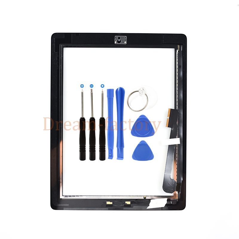 For ipad 4 Touch Screen Digitizer +Home Button +Sticker +Camera Holder Complete Assembly A1458 A1459 A1460 Tablet Touchscreen