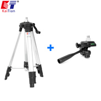 KaiTian Tripod for Laser Level 360 Rrotary Laser 3D 118cm Aluminium Collapsible with Bracket Construction Tools Tripod for Level