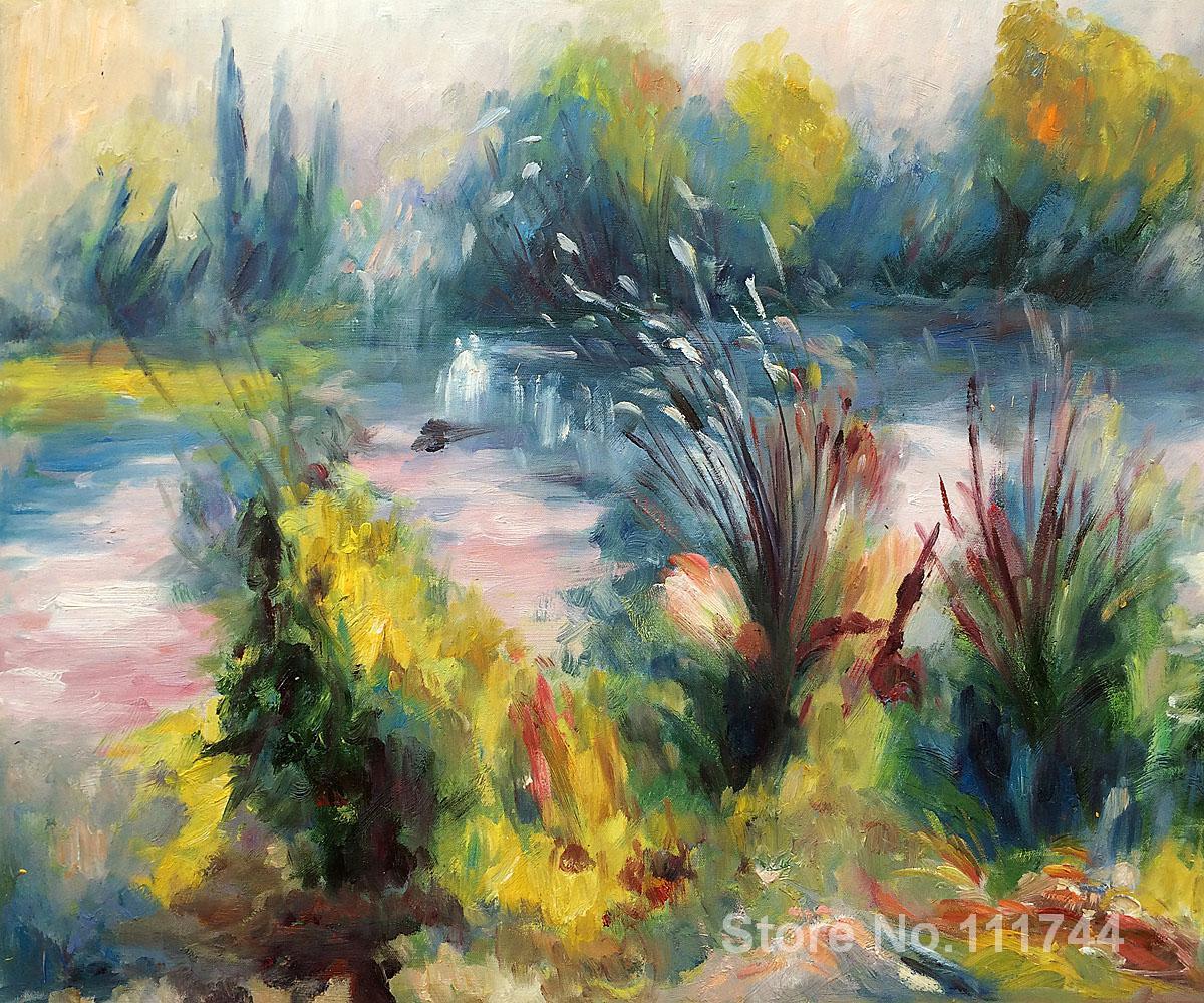 Landscape paintings of Pierre Auguste Renoir Paysage Bords