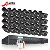 ANRAN 32CH 1080N HDMI DVR Kit AHD Camera Set Surveillance System 32pcs AHD 720P 1800TVL IR