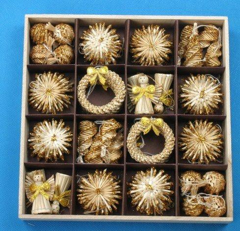 Adornos de árbol de navidad de decoración de navidad 56pcs conjunto - Para fiestas y celebraciones - foto 1