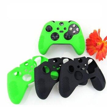 Funda de piel de silicona de Color sólido transparente cristal antideslizante JIELI para Controlador Xbox One Elite