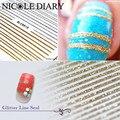 Patrón de Líneas de Plata de Oro del Arte del clavo Etiquetas Engomadas Del Clavo 3D Consejos Diseño Decoraciones Hoja en Los Dedos Nail Art Decals 8204849