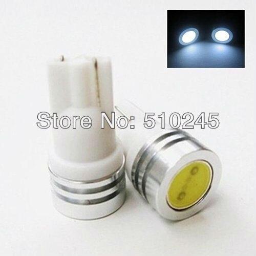 50X Car lights 194 W5W T10 1W Wedge LED Light Bulb Lamp White ree shipping