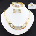 2016 New Fashion Women Wedding Bridal Accessories Party Jewelry set  Gold Plated African Beads Costume Jewellery Sets com