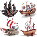 3D Puzzle model Ship Black Pearl/Roman warship/Santa Maria Model Jigsaw puzzle for children/adult Educational Toys