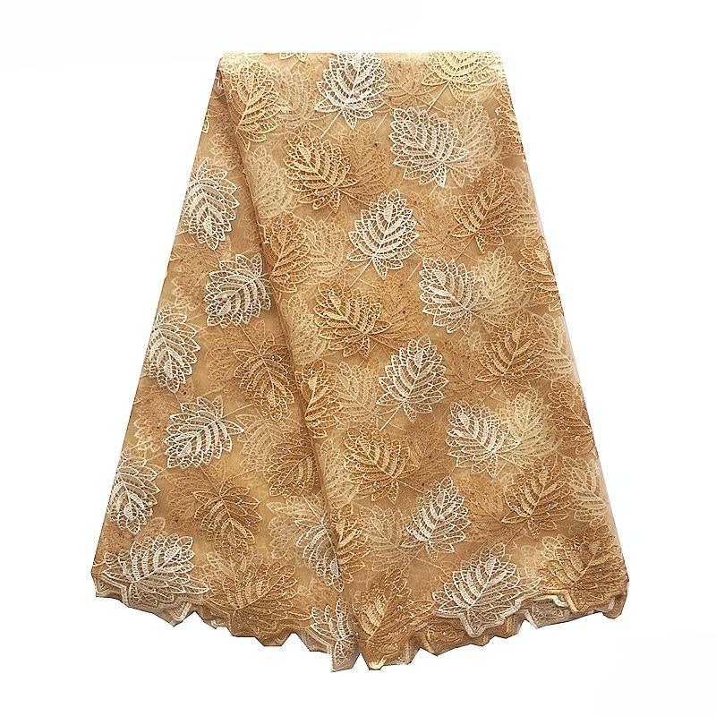 Royal Blue African Lace Fabric Nya Mesh Net Swiss Lace Material - Konst, hantverk och sömnad - Foto 3