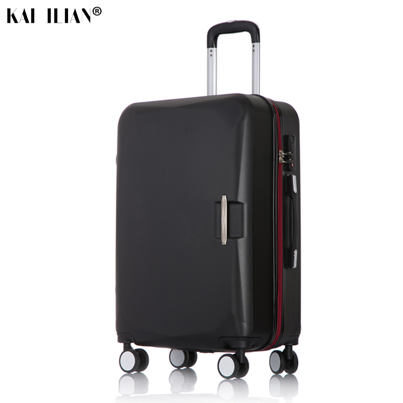 20/24/26 inch Travel rolling luggage Men Road suitcase on wheels Women Cabin spinner trolley bags box concise luggage Black gray20/24/26 inch Travel rolling luggage Men Road suitcase on wheels Women Cabin spinner trolley bags box concise luggage Black gray