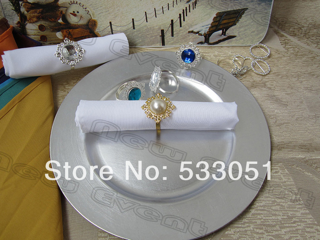 Cheap Wedding Napkin.50x50cm White Polyester Plain Napkin Wedding Napkin Table Dinner Napkin With Antique Fauxl Pearl Napkin Rings In Table Napkins From Home Garden On