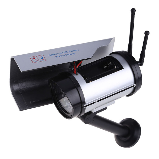 Top Sell Solar Power Fake IP surveillance camera Dummy Outdoor Security Home CCTV Mini Camera Flashing LED light
