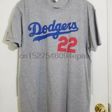 32aba1b3266 LA DODGERS KERSHAW Jersey T-Shirt 22 Grey - Men s XL Sga New(China